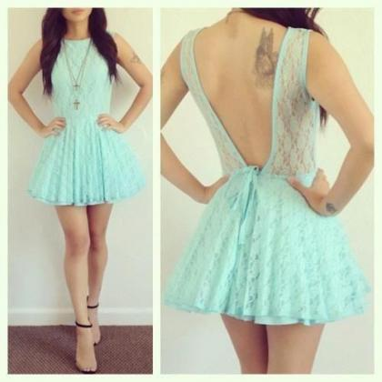 Charming Homecoming Dress,Lace Hom..