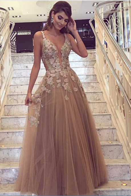 Prom Dresses,Tulle Prom Dresses,V Neck Prom Dresses,Prom Dresses for Women,Long Prom Dresses,Long Sexy Prom Dresses