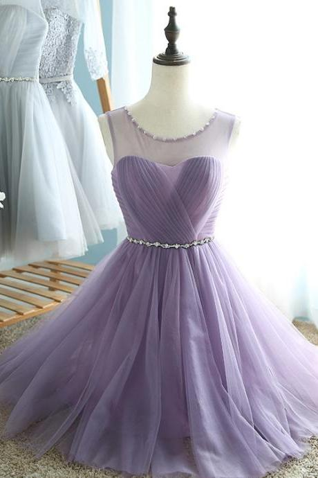 Lavender Short Homecoming Dresses,Homecoming Dress,Open Back Homecoming Dress,Short Prom Dresses,Beaded Graduation Dresses