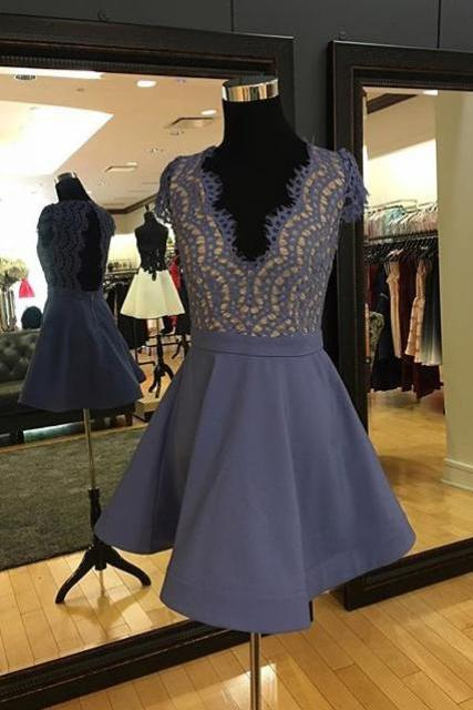 Sexy Homecoming Dress,A-Line Prom Dresses,Prom Dress,Lace Homecoming Dress,Short Homecoming Dress
