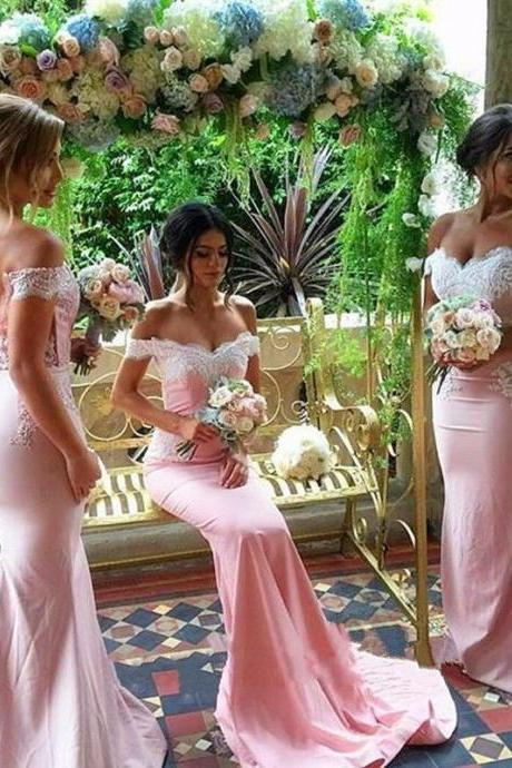 Off Shoulder Sexy Bridesmaid Dress,Beautiful Custom bridesmaid dress, Wedding Party Dresses,Long Bridal Gowns