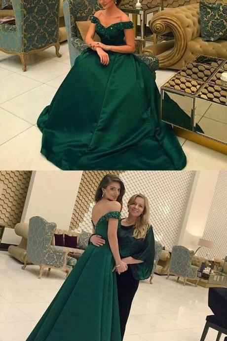 modest off shoulder prom party dresses with beaded, fashion formal evening gowns,PD1700006