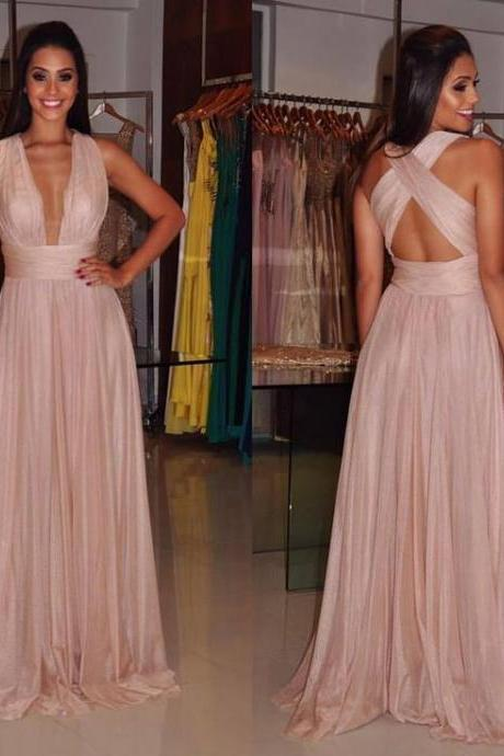 Simple Formal Dresses,Prom Dresses,Teens Fashion Evening Gown,Pink Party Dress,Chiffon Prom Gowns,BD543