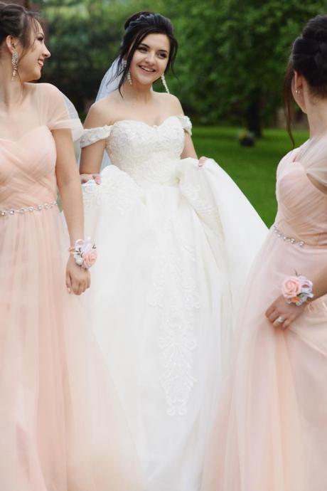 Sweetheart Long Bridesmaid Dresses With Beading,BW93648