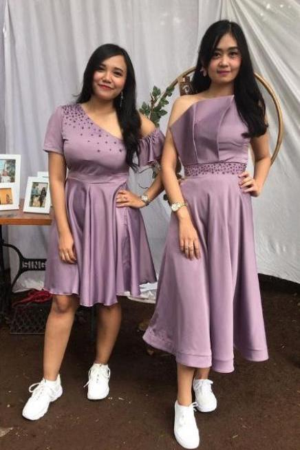 Mismatched Bridesmaid Dresses,Dust Purple Bridesmaid Dresses, BW93655