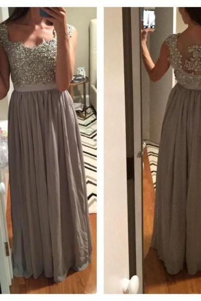 Charming Prom Dress,Beading Prom Dress,A-Line Prom Dress,Chiffon Prom Dress,Appliques Evening Dress,PD1700028