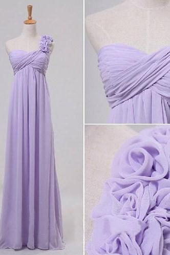 Charming Prom Dress,Chiffon Prom Dress,A-Line Prom Dress,One-Shoulder Prom Dress,Flower Prom Dress,PD1700130