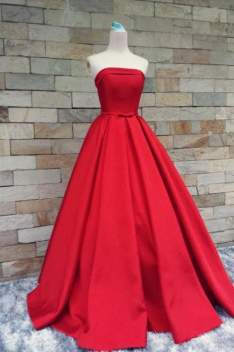 Charming Prom Dress,A-Line Prom Dress,Satin Prom Dress,Noble Prom Dress,Strapless Prom Dress,PD1700134