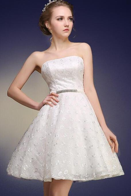 Charming Homecoming Dress,Lace Homecoming Dress,Strapless Homecoming Dress,Noble Homecoming Dress,PD1700234