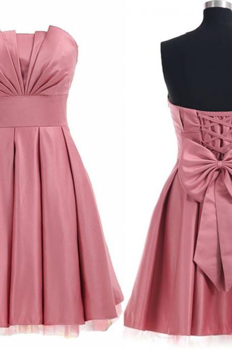 Charming Homecoming Dress,Satin Homecoming Dress,Lace-Up Homecoming Dress,Noble Homecoming Dress,PD1700257