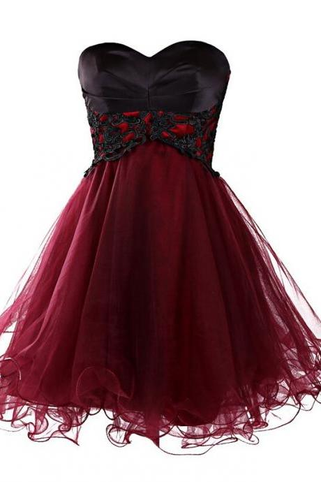 Charming Homecoming Dress,Organza Homecoming Dress,Appliques Homecoming Dress,Sweetheart Homecoming Dress,PD1700272