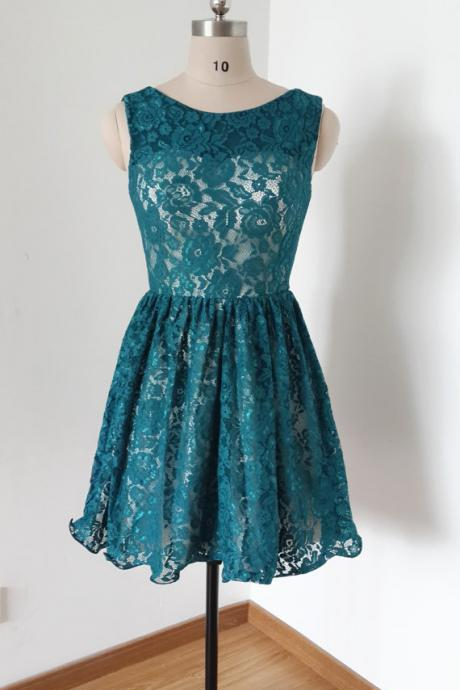 Charming Homecoming Dress,Lace Homecoming Dress,Bow Homecoming Dress, Short Noble Graduation Dress,PD1700292
