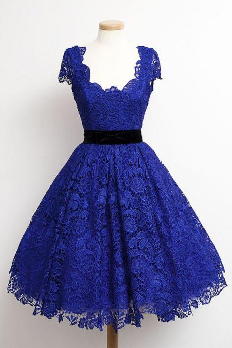 Charming Homecoming Dress,Lace Homecoming Dress,Short Sleeves Homecoming Dress, Short Noble Graduation Dress,PD1700294