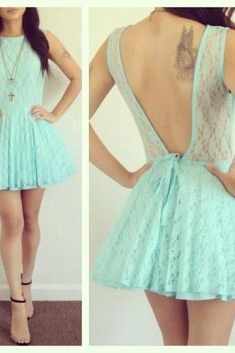 Charming Homecoming Dress,Lace Homecoming Dress,Backless Homecoming Dress, Short Cute Homecoming Dress,PD1700300