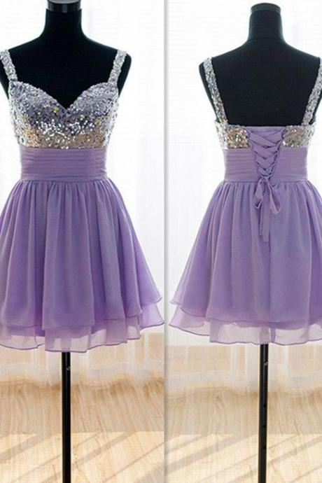 Charming Homecoming Dress,Sequined Homecoming Dress,Chiffon Homecoming Dress, Short Homecoming Dress,PD1700302