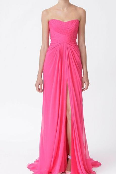 High Quality Prom Dress,A-Line Prom Dress,Chiffon Prom Dress,Sweetheart Prom Dress, Pleat Prom Dress,PD1700313
