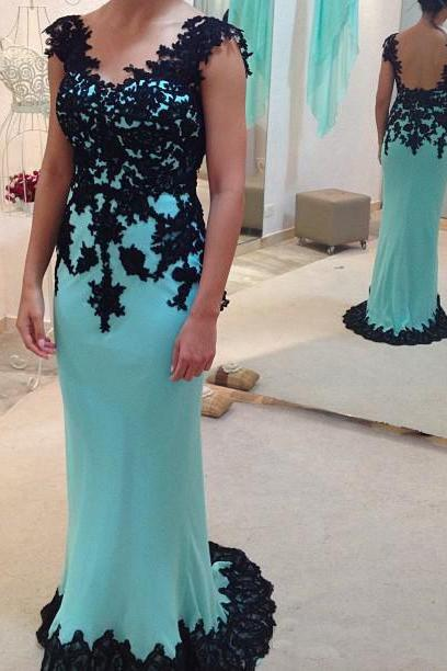 High Quality Prom Dress,Mermiad Prom Dress,V-Neck Prom Dress,Chiffon Prom Dress,Appliques Prom Dress,PD1700347