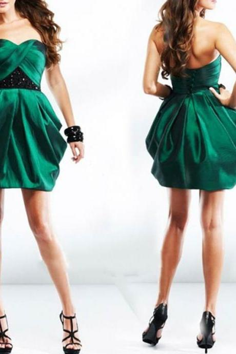 Charming Homecoming Dress,A-Line Homecoming Dress,Satin Homecoming Dress, Short Prom Dress,PD1700395