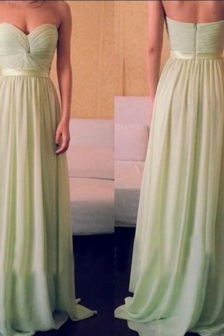 Charming Bridesmaid Dress,Sweetheart Bridesmaid Dress,Chiffon Bridesmaid,Brief Pleat Prom Dress,PD1700402