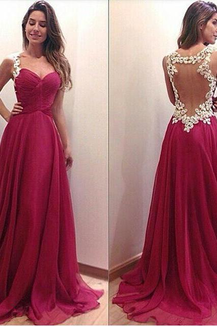 Charming Prom Dress,Appliques Prom Dress,A-Line Prom Dress,Backless Prom Dress,Sexy Prom Dress,PD1700513