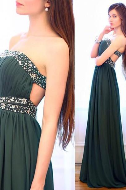 Charming Prom Dress,Strapless Prom Dress,A-Line Prom Dress,Chiffon Prom Dress,Sequined Prom Dress,PD1700568