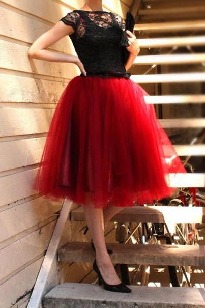 Fashion Street Style Skirt,Tulle Skirt,Charming Women Skirt,Spring Autumn Skirt ,A-Line Skirt ,High Quality Skirt,PD1700589