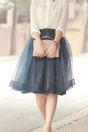 Fashion Spring Skirt,Tulle Skirt,High Quality Women Skirt,Lovely Skirt,PD1700637