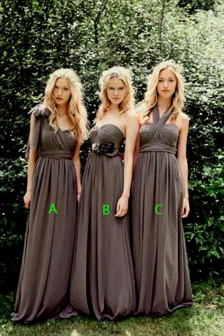 A-Line Bridesmaid Dress,Chiffon Bridesmaid Dress,Long Bridesmaid Dress,Custom Bridesmaid Dress,PD1700699