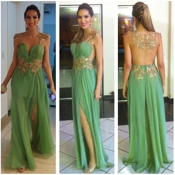 Charming Prom Dress,Appliques Prom Dress,A-Line Prom Dress,V-Neck Prom Dress,Sexy Prom Dress,PD1700509