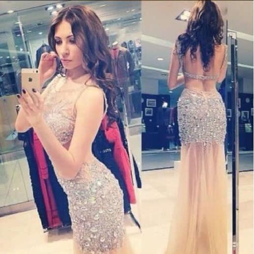 Charming Prom Dress,Sequined Prom Dress,Mermaid Prom Dress,Backless Prom Dress,Sexy Prom Dress,PD1700510